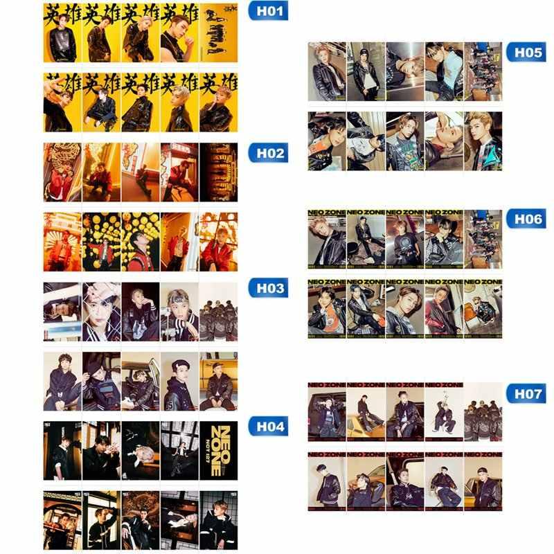 10 ピース/セットkpop nct 127 新アルバムneozoneフォトカードのポスターロモカードクリスタル紙photocardファンのギフトコレクション