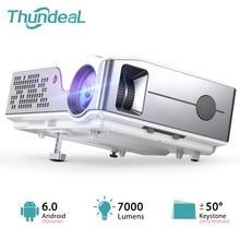 ThundeaL Full HD Bản Địa 1920X1080P WiFi Android 6 Máy Chiếu 7000Lumens TD96W Máy Cân Bằng Laser 1 Gia Đình 3D video Proyector