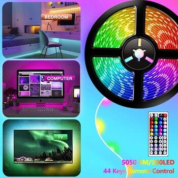 цена на RGB 5050 Remote Control LED Strip Light DC12V 5M/10M/15M Waterproof Flexible Led Light Strip for Home Garden Decoration