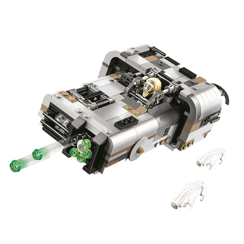 New Star Wars Solo Story Moloch's Land Speeder Building Blocks Kit Bricks Set Classic Movie Toys Children Gift 75210