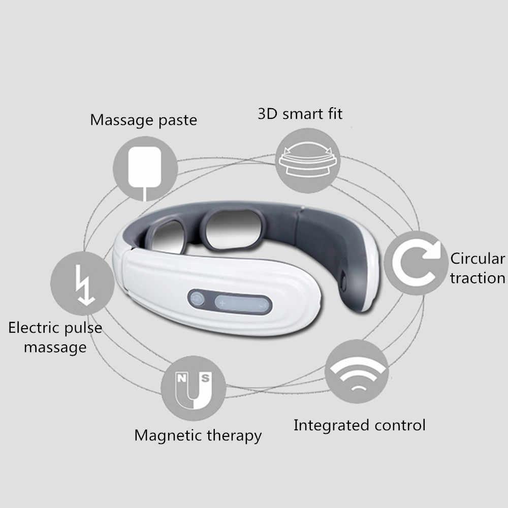 Электрический импульсный массажер для спины и шеи, инфракрасное Отопление, шейный позвоночник, лечение боли, инструмент для облегчения боли, уход за здоровьем, релаксация