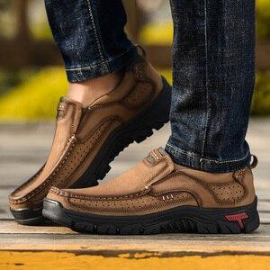 Image 4 - 2019 Nieuwe Heren Schoenen Echt Leder Mannen Flats Loafers Hoge Kwaliteit Outdoor Mannen Sneakers Man Casual Schoenen Plus Size 48