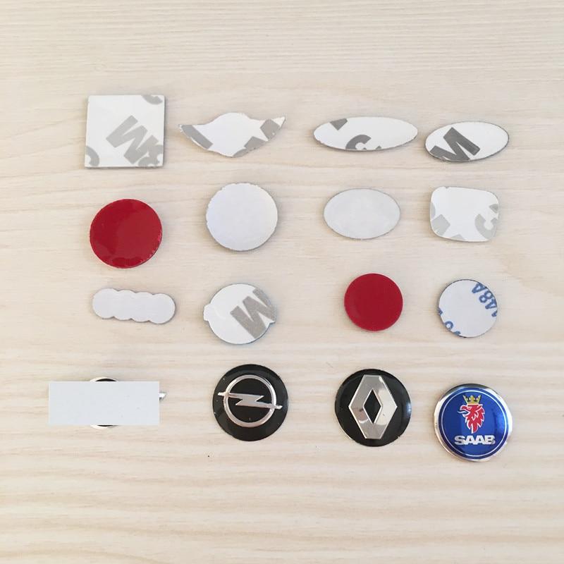 10 шт. 12 мм 21 мм 18 мм 11 мм 14 мм 15 мм 16 мм все логотипы черный синий красный белый ключ дистанционный Брелок эмблема значок Логотип Наклейка