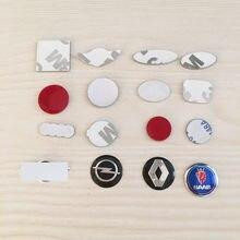 10 pces 12mm 21mm 18mm 11mm14mm 15mm 16mm todo o logotipo preto azul vermelho branco chave remoto fob emblema logotipo adesivo