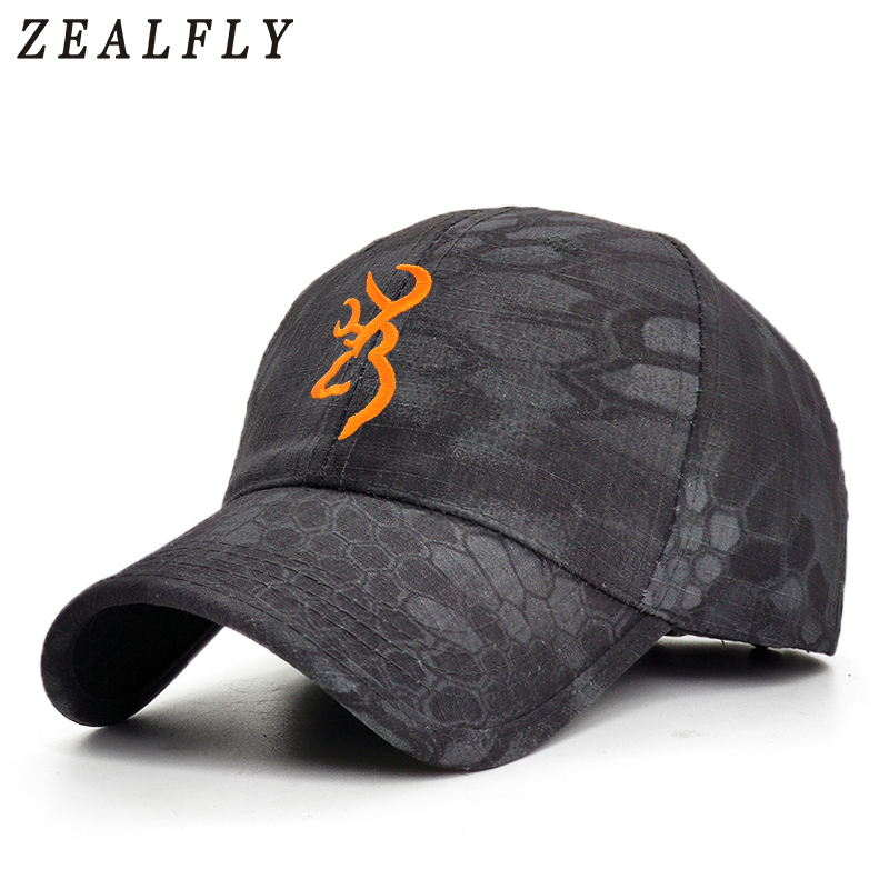 2020 Camouflage Browning Baseball Cap Fishing Caps Outdoor Hunting Jungle Hat Tactical Hiking Casquette Hats For Men And Women
