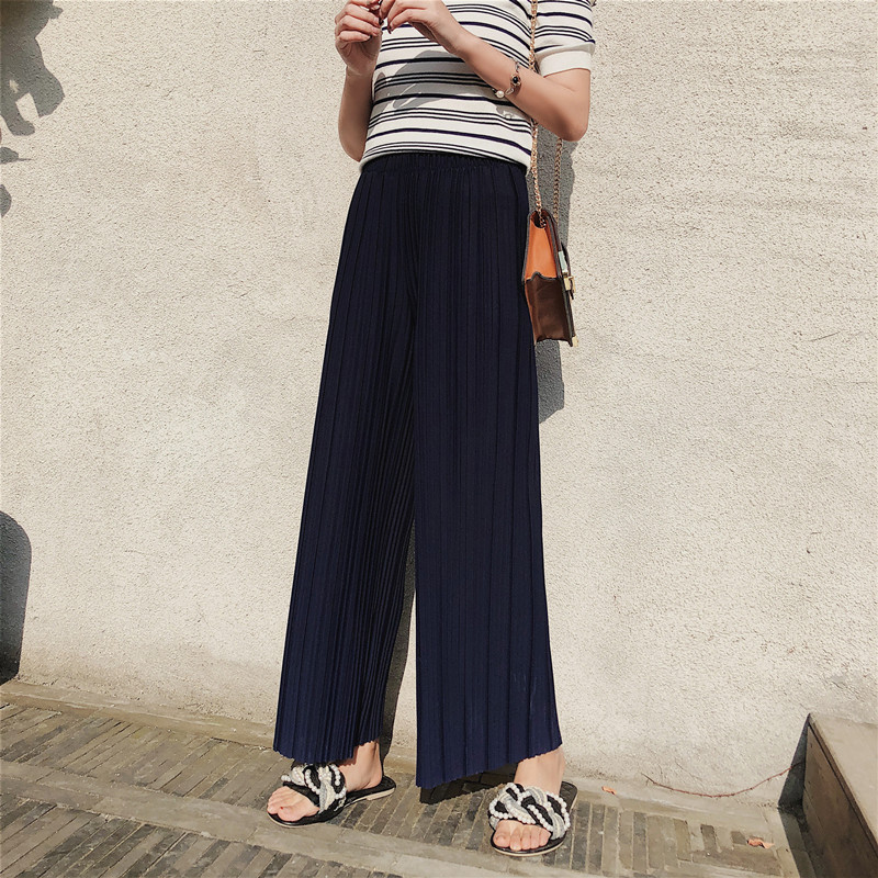 loose wide leg pleated pants women plus size harajuku autumn high waist pants sweatpants pink black flare harem trousers ladies in Pants amp Capris from Women 39 s Clothing