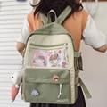 Fashion Female Clear Backpacks Book Laptop College School Bag Women Cute Transparent Backpack Girl Harajuku Kawaii Bags Student