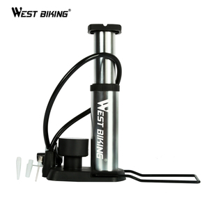 WEST BIKING Ultra-light MTB Bike Pump Portable Cycling Inflator FootBomba de ar bicicleta 100/120Psi High Pressure Bicycle Pump(China)