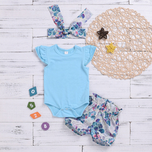 Toddler Girls Clothes Set Baby Solid Tees+Cartoon Fish Scale Print Shorts+Headwear 3Pcs Children Girl Clothing ensemble fille girls fish and star print shorts