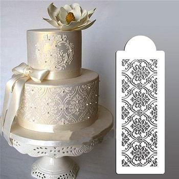 Flower Lace Design Cake Stencil Tools Cookie Cutter Embossing Fondant Pastry Equipment confeitaria bolo ferramentas image
