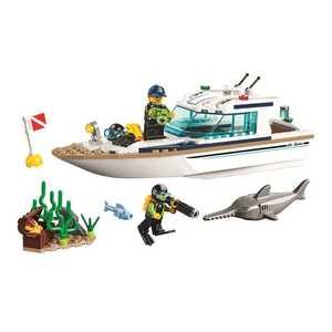 New 160pcs City Sunshine Diving Submarine Boat Building Blocks Fit 60221 Bricks Toys for Children Gift