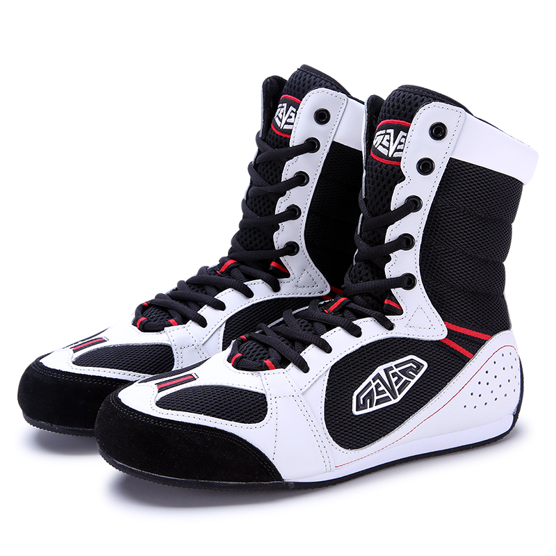 Male Boxing Shoes Athletic Wrestling Shoes For Men Non-Slip Muscle Outsole Sneakers Breathable Training Shoes