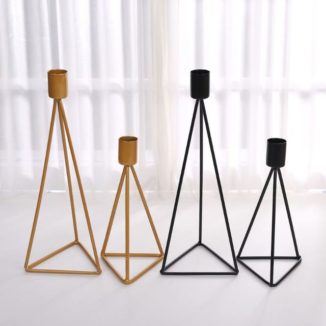 Geometric Candlestick Tealight Candle Holder Stand Wedding Party Decor 4