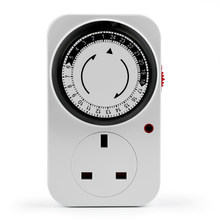24 Jam Plug-In Timer Mekanik Programmable Mini Timer Switch Smart Hitung Mundur Saklar Stop Kontak(China)