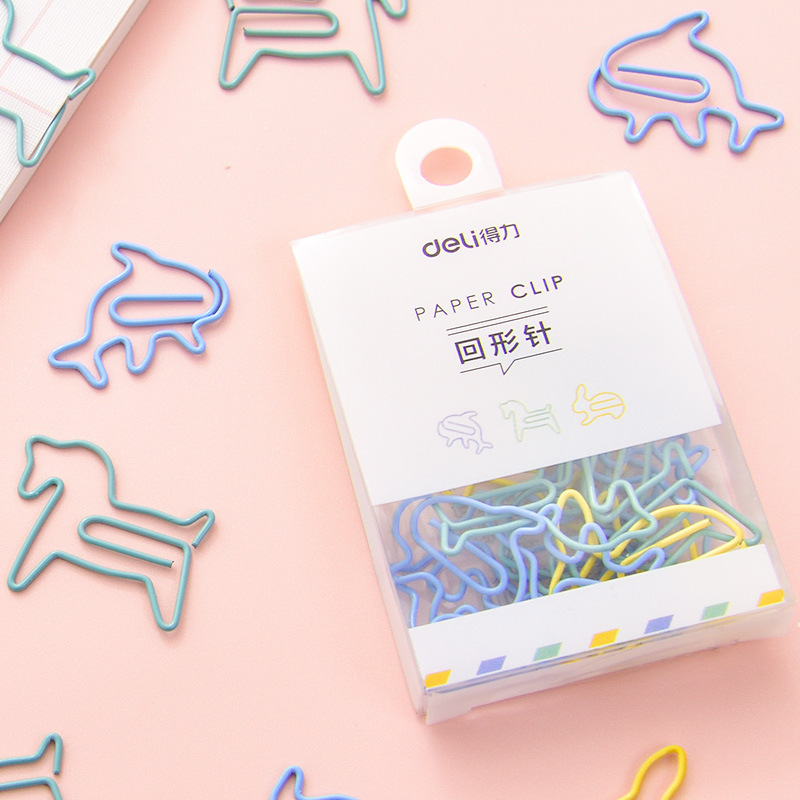12 pcs/pack Cute Kawaii Mini Paper Clips Colored Metal School Office Stationery Binder Clips for Photos Tickets Notes Letter