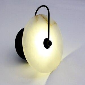 Image 3 - Zerouno Новый мраморный настенный светильник для комнаты 16 см 25 см светодиодный настенный светильник s черный золотой промышленный Современный Мраморный Настенный светильник светильники