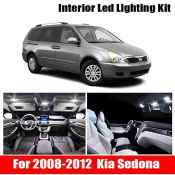 13 luces interiores para automóvil Canbus blancas, Kit de embalaje para 2008-2012 Kia Sedona, luces led interiores, domo para maletero