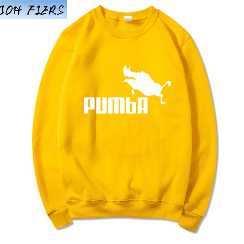 Hot 2019 Autumn And Winter Brand Sweatshirts Men High Quality Pumba Letter Printing Fashion Mens Suprem Hoodies