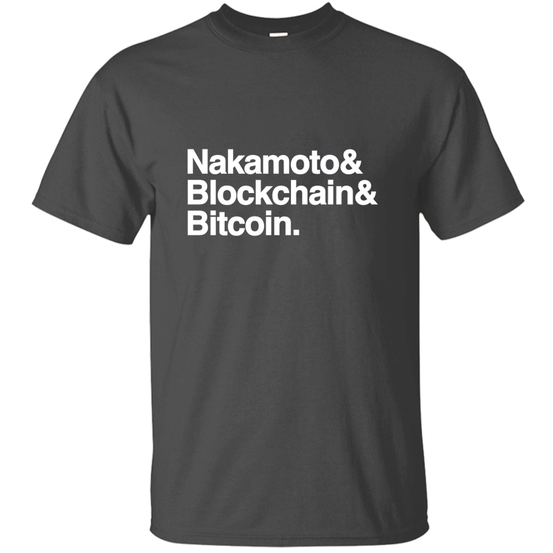 Print Classic nakamoto blockchain bitcoin cyptocurrency t shirt men women Outfit Clothes men's t shirt Crew Neck Top Quality