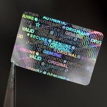 Etiqueta holográfica da etiqueta do laser do holograma de 20x30mm genuíno original autêntico válido sicher seguro etiqueta da segurança para o pacote