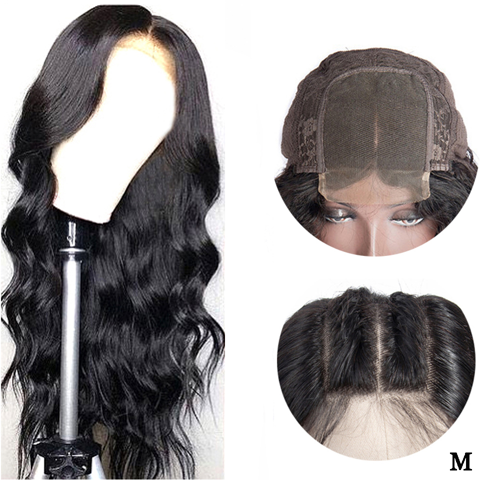Lace Closure Human Hair Wig 4x4 Closure Wigs Remy Brazilian Wig Body Wave Swiss Lace Wig With Baby Hair 150 Density Middle Ratio