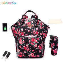 Ankommling Diaper Bag Fashion Style Backpack Mother's Bag Upgraded Multi-Function Maternity Package Baby Bags