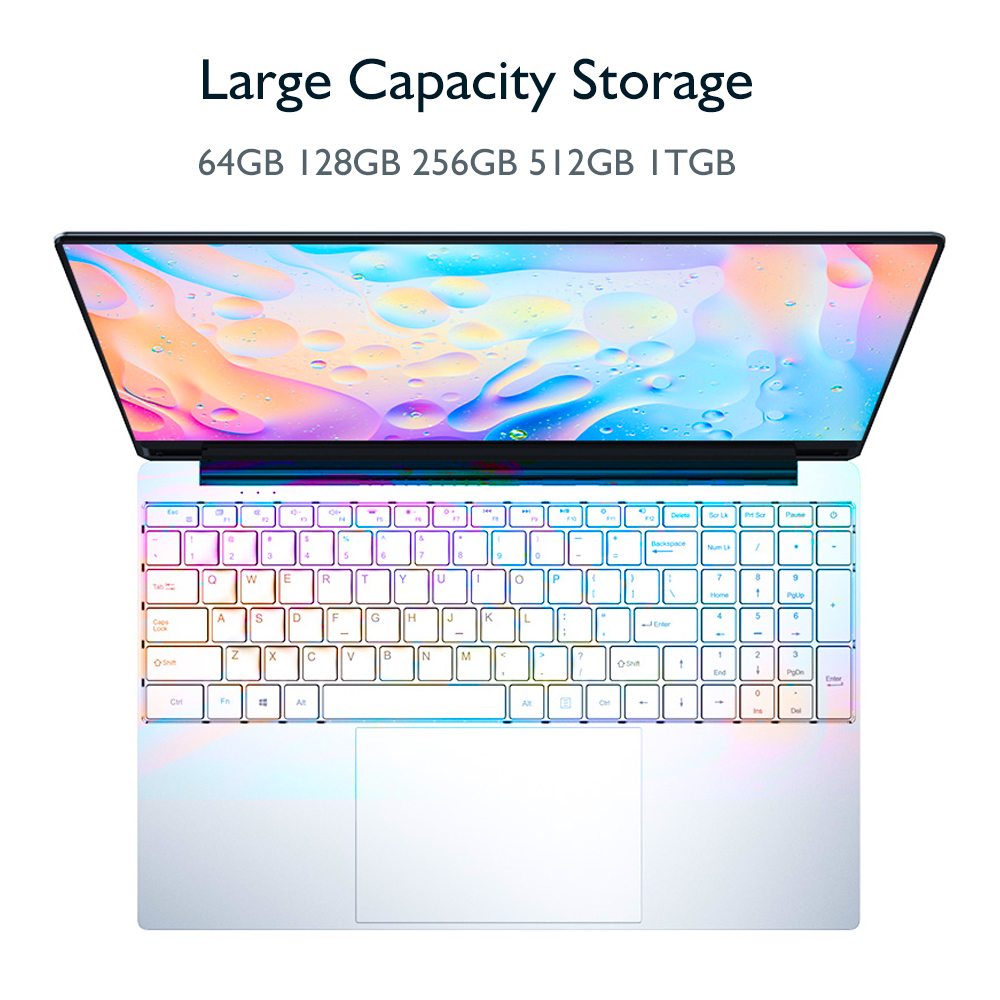 15.6 Inch 1920*1080 Intel Core i3 5005U Windows10 8GB RAM 1TGB SSD Laptop with Backlit Full Layout Keyboard Metal Cover Notebook