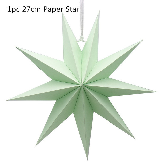 3D Party Decorations Star Paper Flowers Multicolor 1pcs Handmade Hanging Shade Tree Yard Christmas New Year Wedding Home Decor