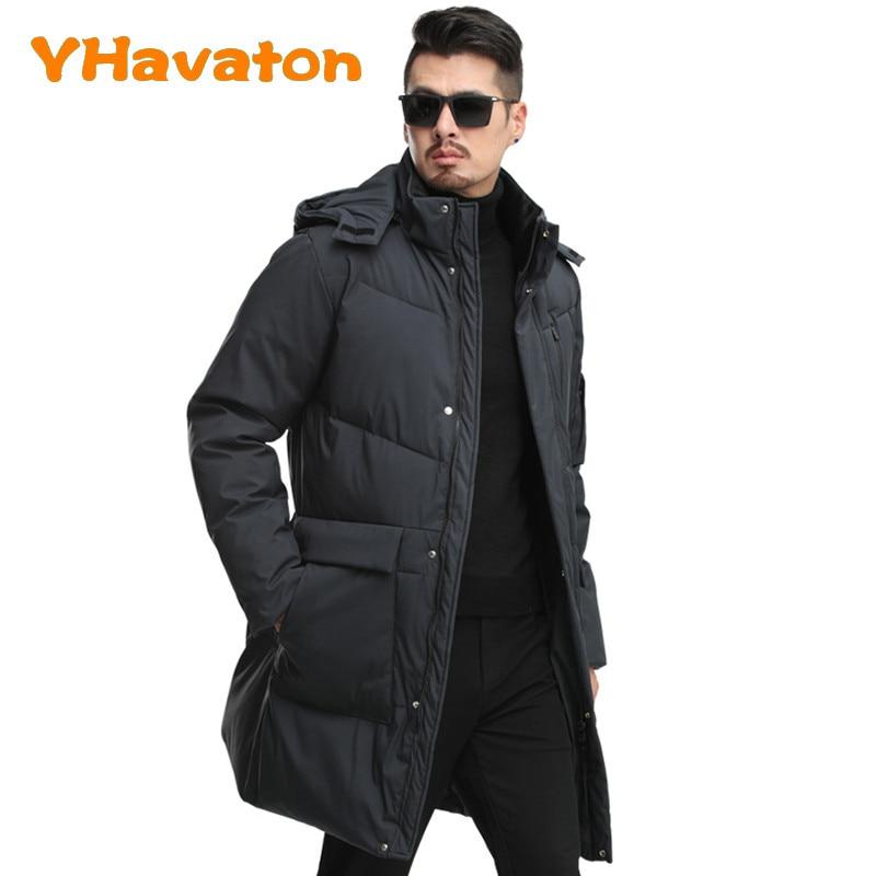 2020 New Winter Trench Jacket Men Fashion Cotton Coat Hooded Jacket Thick Jacket Men Clothing Warm Coat 3XL