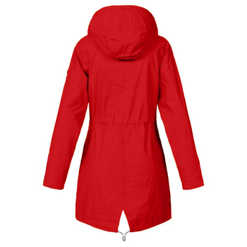 Windproof Long Hooded Jacket 3