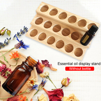 3 Layer 18 Grids Wooden Essential Oil Display Rack Cosmetic Rack For 30ml Essential Oil Finishing Rack Essential Oil Storage Box