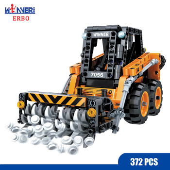 ERBO 372 Pcs Building Blocks Technology Snowplow Car DIY City Model Bricks Car Toys for Children Toys Educational Gift