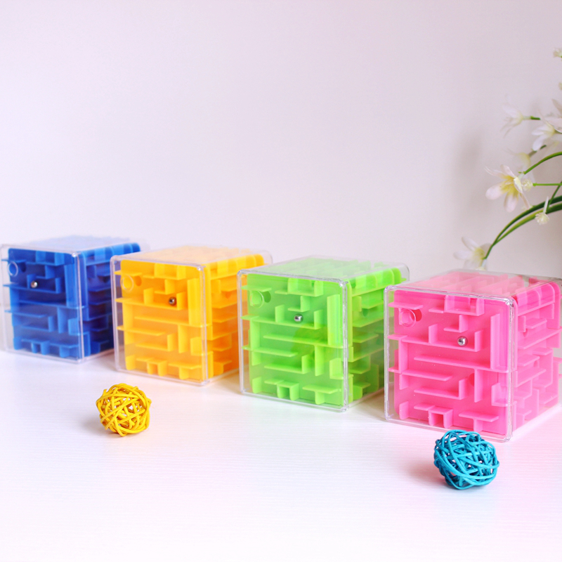 Baby Magic Cube Children Kids Professional Competition 3D Maze Puzzle Cube for Boys Girls Gifts Big Brain Game Educational Toy
