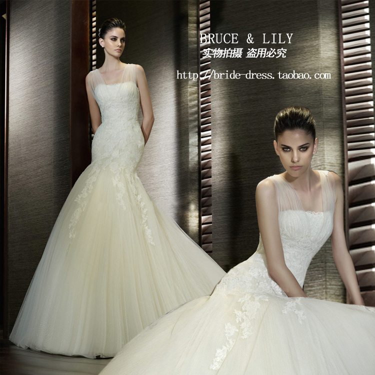 Free Shipping Casamento Cheap Vestido De Noiva 2016 New Fashionable Hot Sexy Romantic Bride Mermaid Wedding Dress Bridal Gown