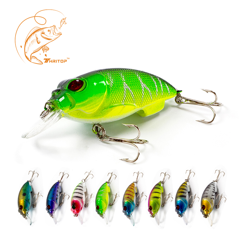 Thritop Fishing Lures 70mm 9.5g TP006 With 8 Various Colors For Option,Good Quality Crankbait Professional Minnow Fishing Tools