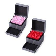 Романтическая Подарочная коробка Jack Rose, лаконичная двойная Подарочная Коробка для мыла, цветов, парфюм, ювелирный ящик, коробка на День святого Валентина, подарок, выглядит как свежий