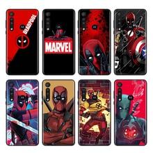 Marvel Deadpool Motorola bir makro hiper Fusion Plus G9 G8 G 5G E7 E6 kenar artı oyun gücü lite telefon kılıfı