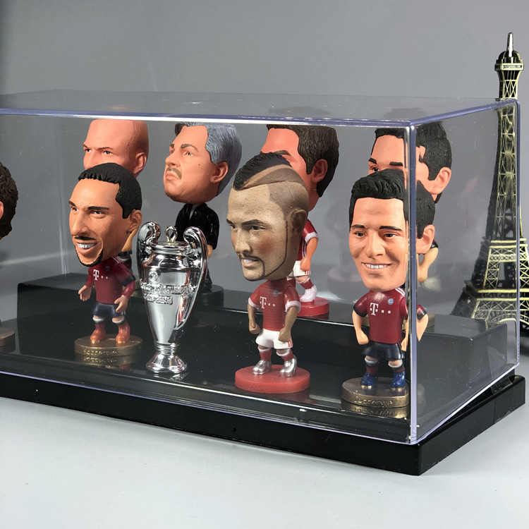 Football Fan Real Madrid C Luo Barcelona Football Club Messi Within Neymar Salah Gift Star Doll Play Figurine Garage Kit Model