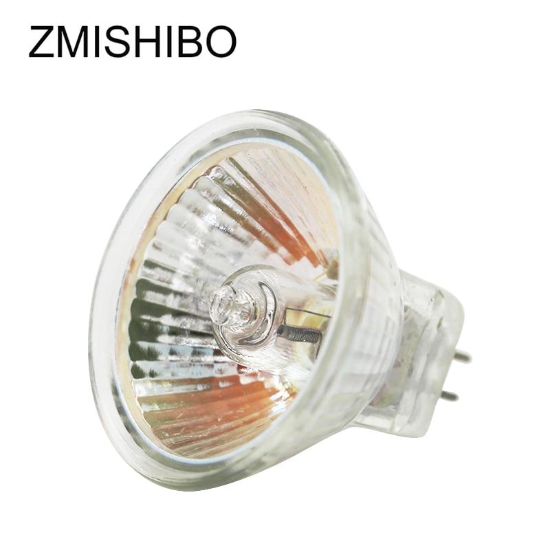 ZMISHIBO 10 PCS/Lot MR16 GU5.3 ampoule halogène 12V 20W 35W 50W 220V JCDR 50MM verre clair Dimmable Spot lumières blanc chaud 2700K