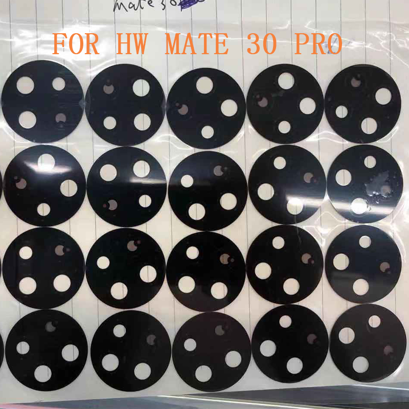 10/30/50pcs Free Shipping For Hua Wei Mate 30 Pro MATE 30 PRO Glass Camera Lens With Adhesive Replacement