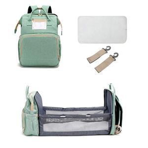 Lequeen 2 в 1, рюкзак для коляски, Большая складная сумка для кроватки, пеленки, детские сумки-кровати, сумка для кормящих матерей