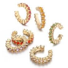 6 stücke Mode Kleine Ohr Manschette Set Ohrring für Frauen Bunte Zirkonia Clip Ohrring Stapelbar Knorpel Ohrring Keine Durchbohrten