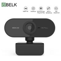 Volle HD 1080P Webcam Computer PC Web Kamera Mit Mikrofon Drehbare Kameras Für Live Broadcast Video Aufruf Konferenz Arbeit