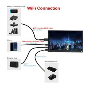 Image 5 - Màn Hình Máy Tính LCD 15.6 Inch Wifi Di Động Siêu Mỏng 1080P IPS HD USB Loại C & Nbsp Cho Điện Thoại Laptop Xbox Công Tắc PS4 Với Pin