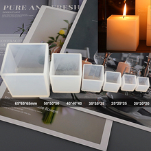 Resin Molds Candle Silicone Soap Plaster-Crafts Flower-Decoration Cube-Shape Square Diy Gypsum