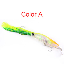 1pcs/2019 hot sale Winter fishing Bionic Fake bait Hard with squid 14cm/40g Artificial 3D eyes bass sinking Rotate Barbed h