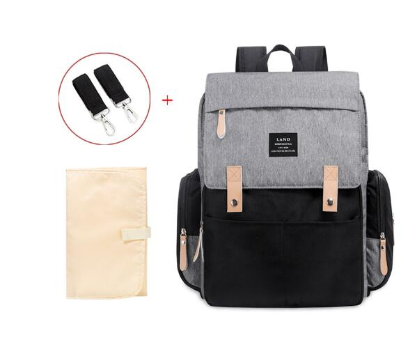 LAND Mommy Diaper Bags Mother Large Capacity Travel Nappy Backpack With Anti-loss Zipper Baby Nursing Bags New