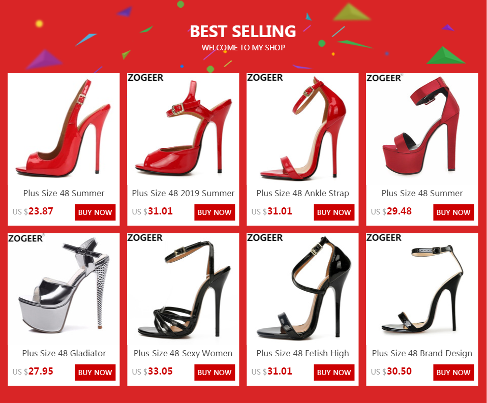 H8961c3cb8d4840f880e26b2dbfa115ddR Plus Size 48 Summer Sandals For Women Sexy Fashion High Heels Sandals Women Peep Toe Back Straps Black Red Wedding Party Shoes