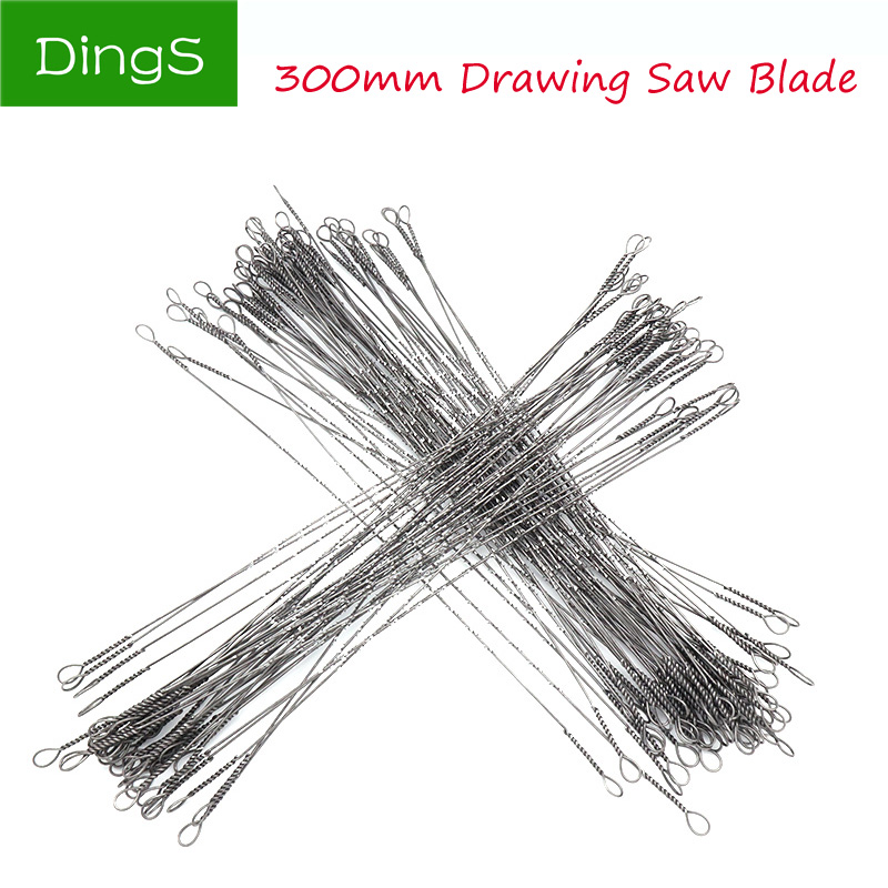 20pcs 300mm U-shaped Wire Saw Blade Multi Wire Tooth Woodworking Scroll Saw Blades Pull Flower Saw Blade Wood Carving Hand Tools