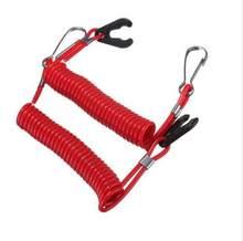 JETTING-Cuerda de Motor fueraborda para barco, interruptor de parada, anclaje de seguridad, color rojo, 1 Uds.